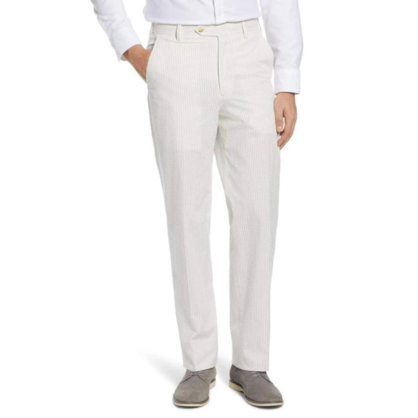Tan Seersucker Pants by Country Club Prep