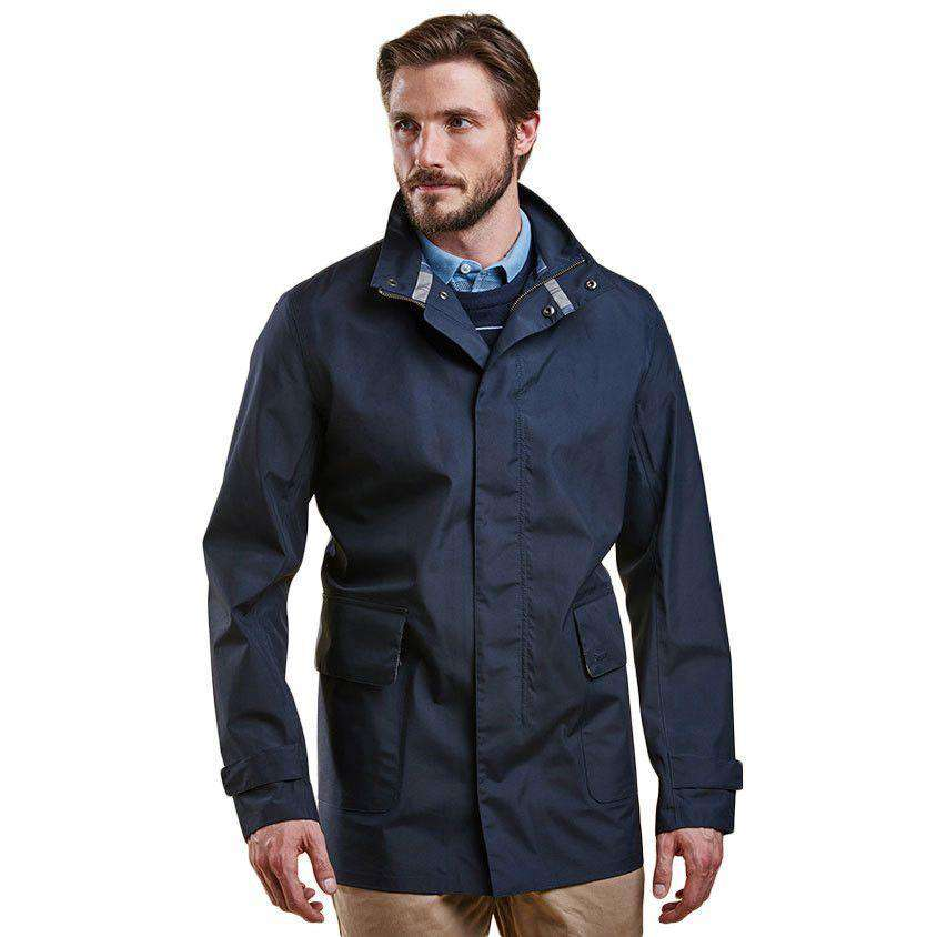 Tarbet Waterproof Rain Jacket in Navy by Barbour  - 1