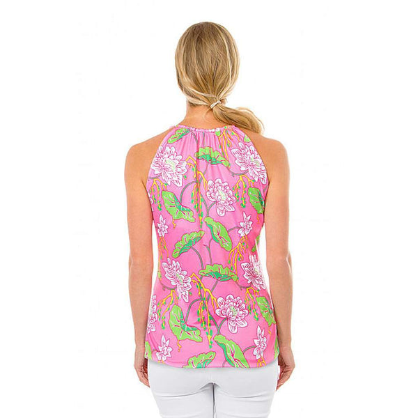 The Mystic Garden Tassel Tie Top in Pink by Gretchen Scott Designs