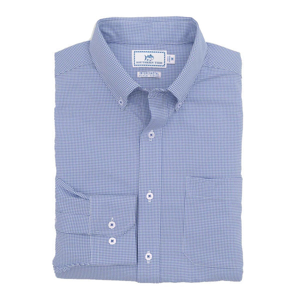Gameday Gingham Intercoastal Performance Sport Shirt by Southern Tide