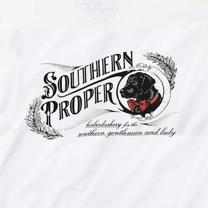 Haberdashery Tee in White by Southern Proper - FINAL SALE
