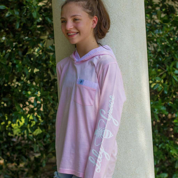 Junior Hoodie Tee in Blossom by Lily Grace