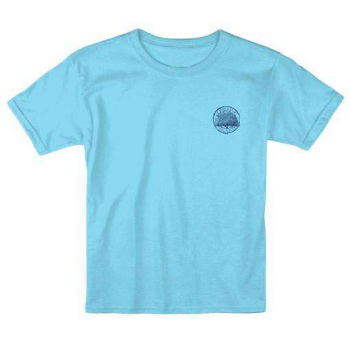 KIDS Bow Tie Circle Tee in Lagoon Blue by Live Oak - FINAL SALE