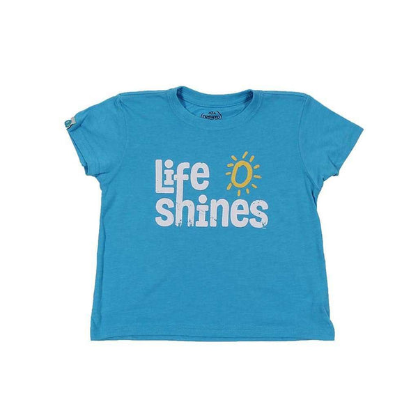 Tee Shirts - KIDS Life Shines Recycled Tee Shirt In Blue By 30A - FINAL SALE