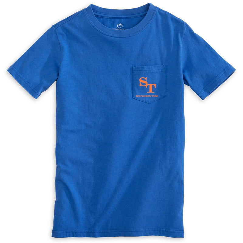 Kids Outline Skipjack Tee Shirt in Royal Blue by Southern Tide