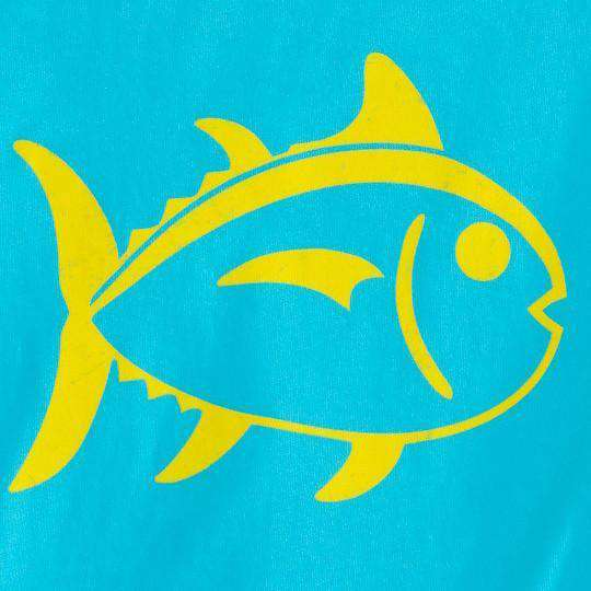 Kids Outline Skipjack Tee Shirt in Scuba Blue by Southern Tide