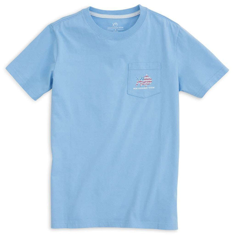 KIDS Skipjack Flag Tee Shirt in Ocean Channel by Southern Tide