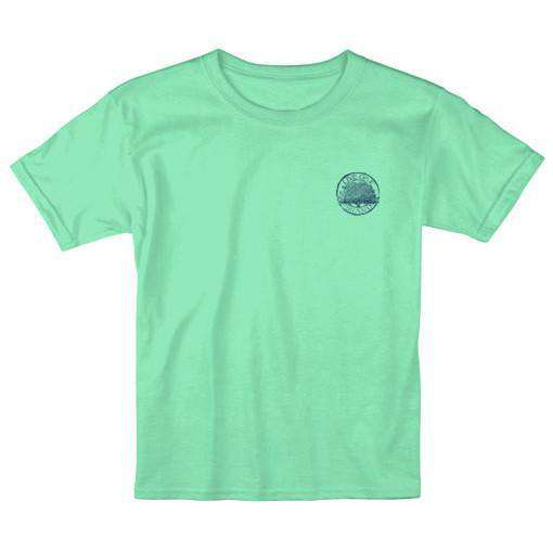 KIDS Yes Sir No Sir Tee in Island Reef by Live Oak - FINAL SALE