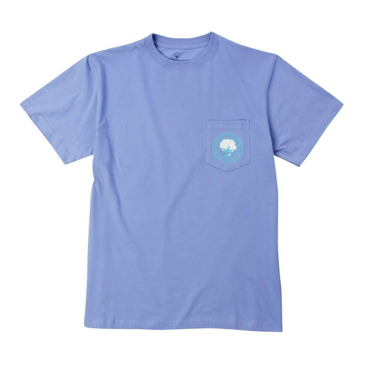 Tee Shirts - Signature Logo Tee In Cornflower Blue By The Southern Shirt Co.