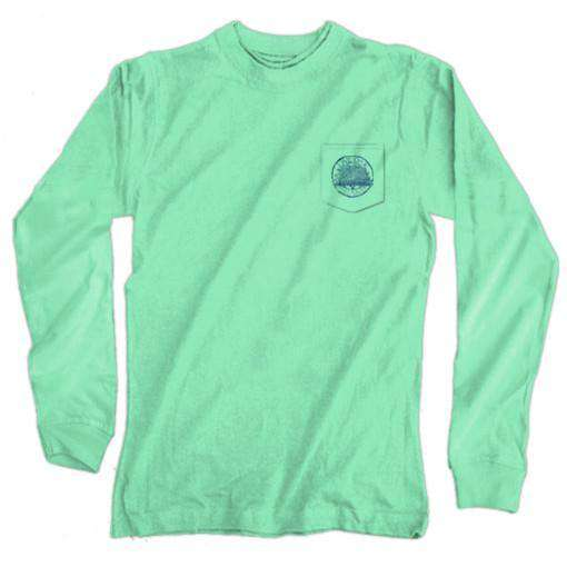 Southern Style Tailgating Cooler Long Sleeve Tee in Island Reef by Live Oak - FINAL SALE