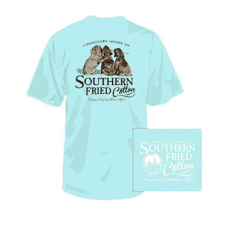 Tee Shirts - Youth Best Friends Pocket Tee In Chalky Mint By Southern Fried Cotton