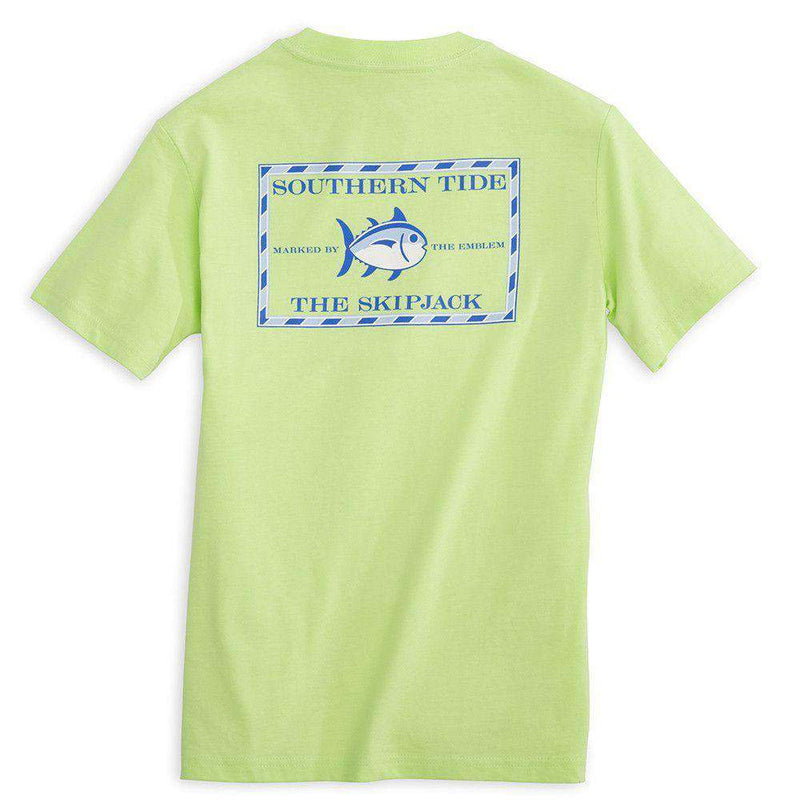 Tee Shirts - Youth Classic Skipjack Tee Shirt In Lime By Southern Tide