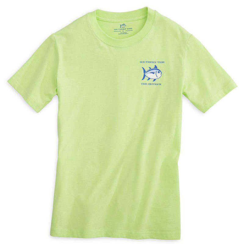 Youth Classic Skipjack Tee Shirt in Lime by Southern Tide