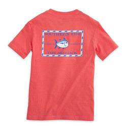 Tee Shirts - Youth Classic Skipjack Tee Shirt In Sunset By Southern Tide