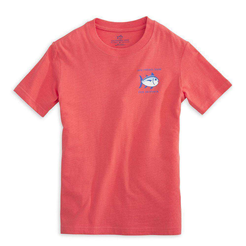 Youth Classic Skipjack Tee Shirt in Sunset by Southern Tide
