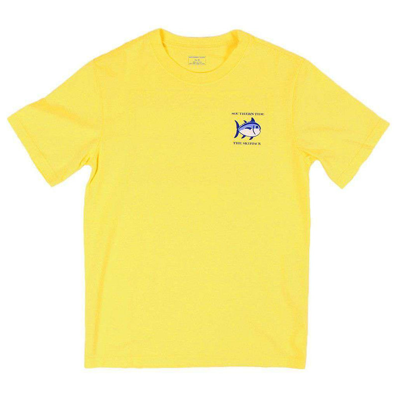 Tee Shirts - Youth Classic Skipjack Tee Shirt In Sunshine By Southern Tide