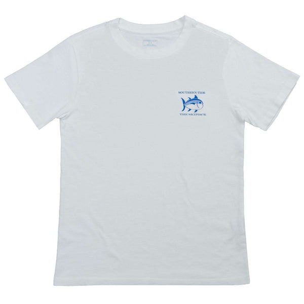 Youth Classic Skipjack Tee Shirt in White by Southern Tide