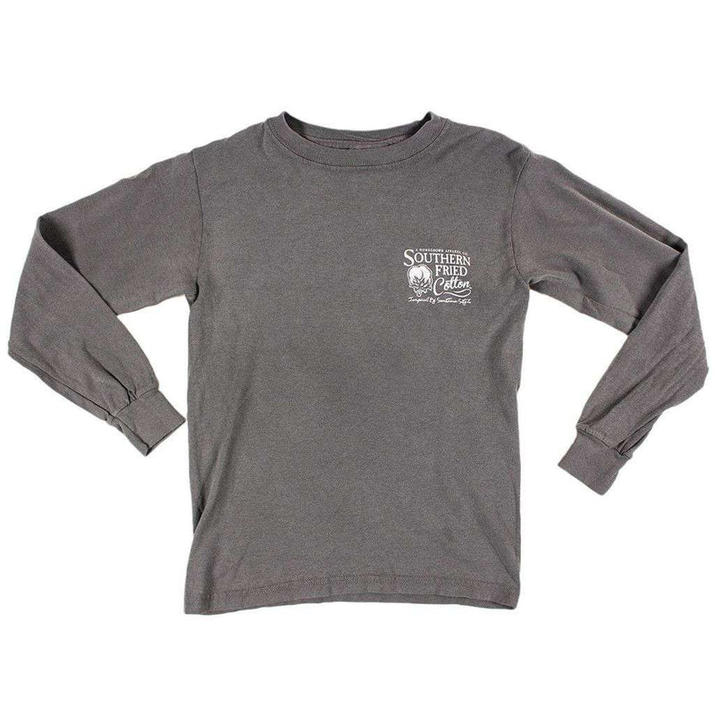 Youth Don't Tread On Me Long Sleeve Tee Shirt in Grey by Southern Fried Cotton - FINAL SALE