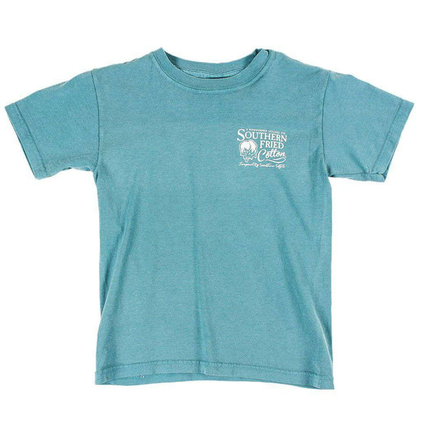 Youth Don't Tread on Me Pocket Tee in Seafoam by Southern Fried Cotton