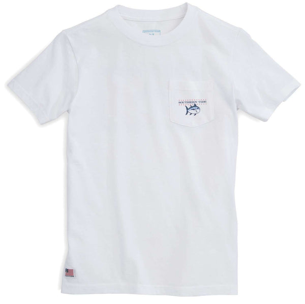 Youth Independence T-Shirt in Classic White by Southern Tide