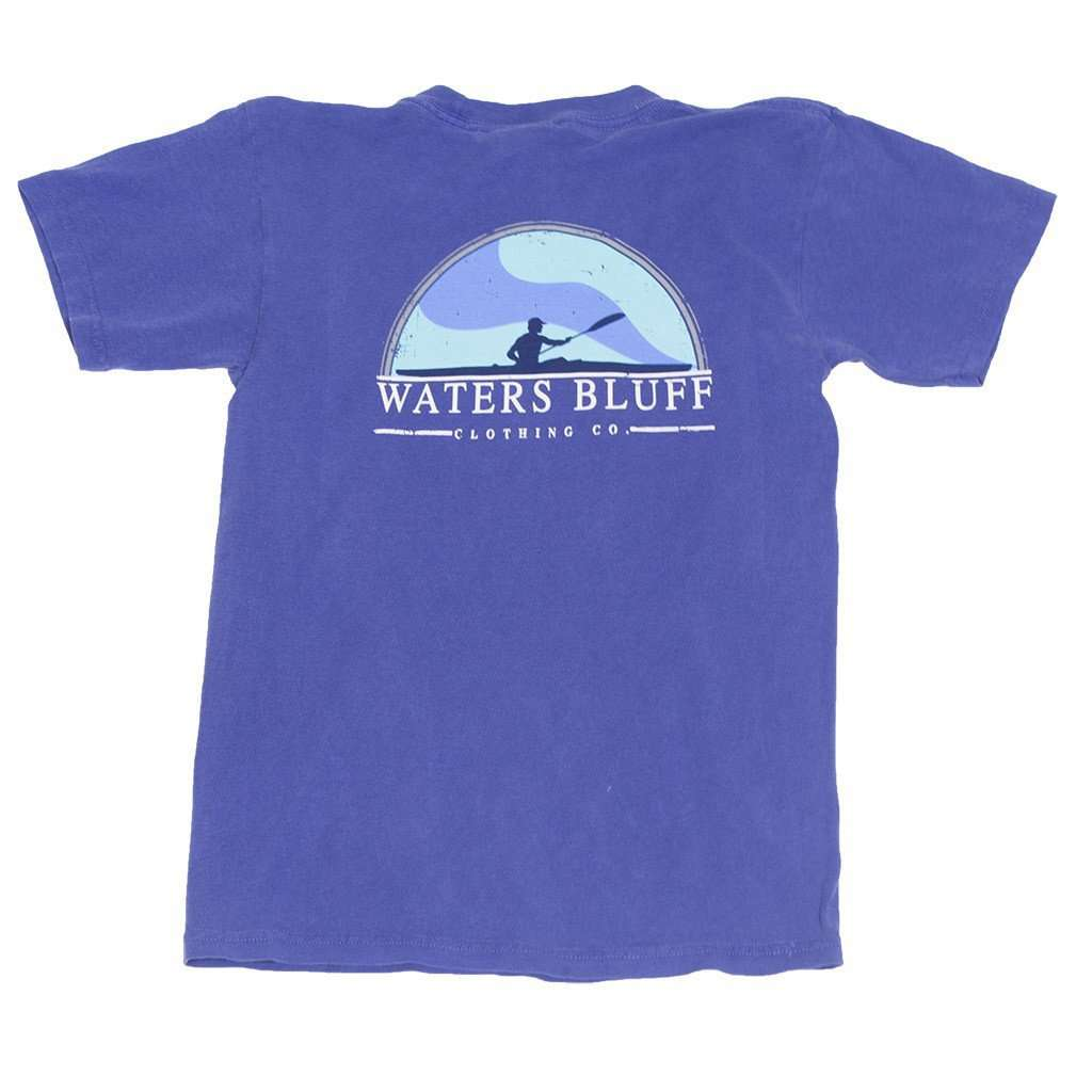 Tee Shirts - Youth Paddler Tee Shirt In Neon Blue By Waters Bluff