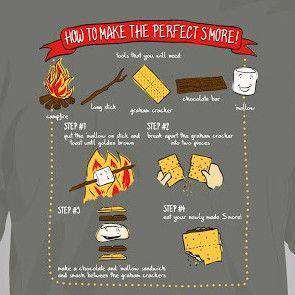 Youth S'mores Short Sleeve Tee Shirt in Grey by Southern Fried Cotton