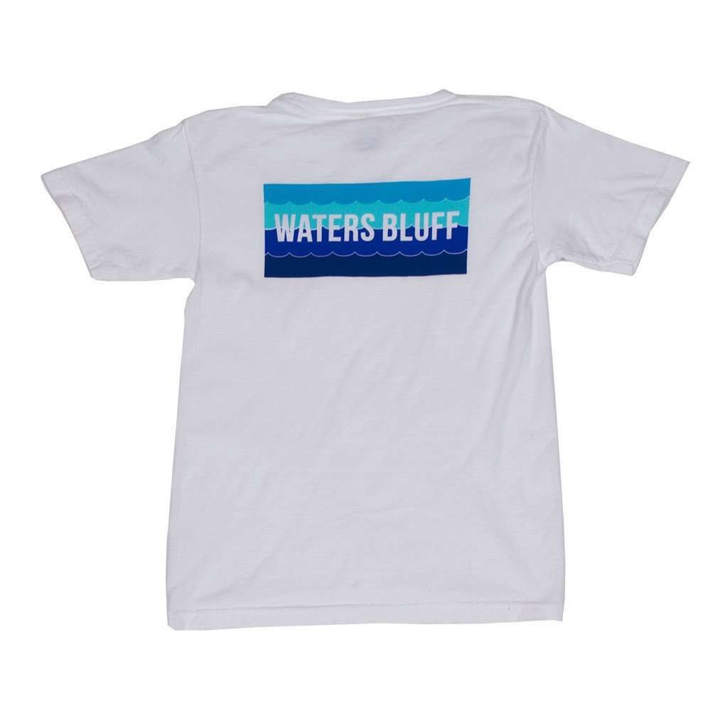 Tee Shirts - Youth Wave Tee Shirt In White By Waters Bluff