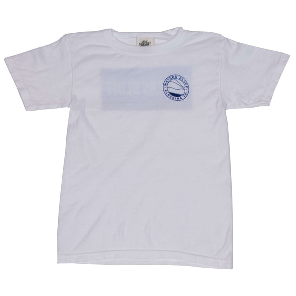 Youth Wave Tee Shirt in White by Waters Bluff