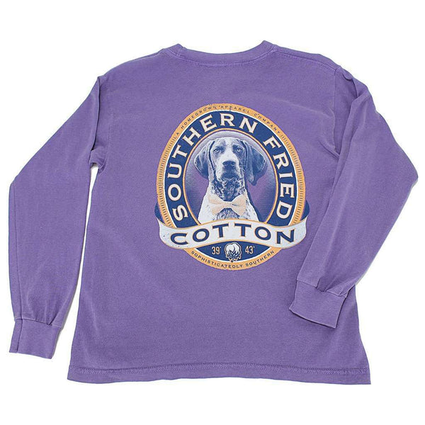 YOUTH Winston II Long Sleeve Tee Shirt in Violet by Southern Fried Cotton