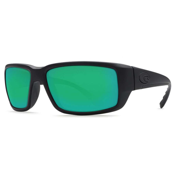 Fantail Sunglasses in Blackout with Green Mirror Polarized Glass Lenses by Costa del Mar