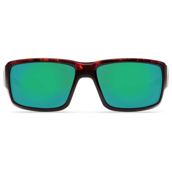 Fantail Sunglasses in Tortoise with Green Mirror Polarized Glass Lenses by Costa del Mar