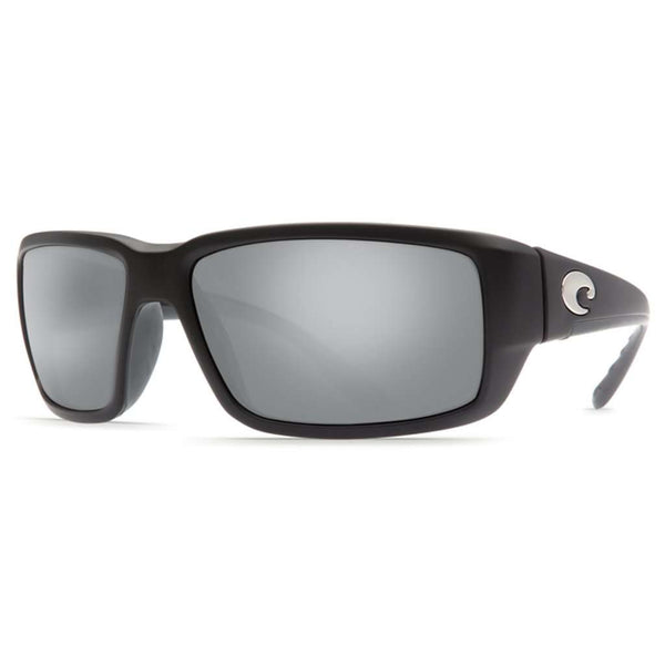 Fantail Sunglasses in Matte Black with Grey Silver Mirror Polarized Glass Lenses by Costa del Mar