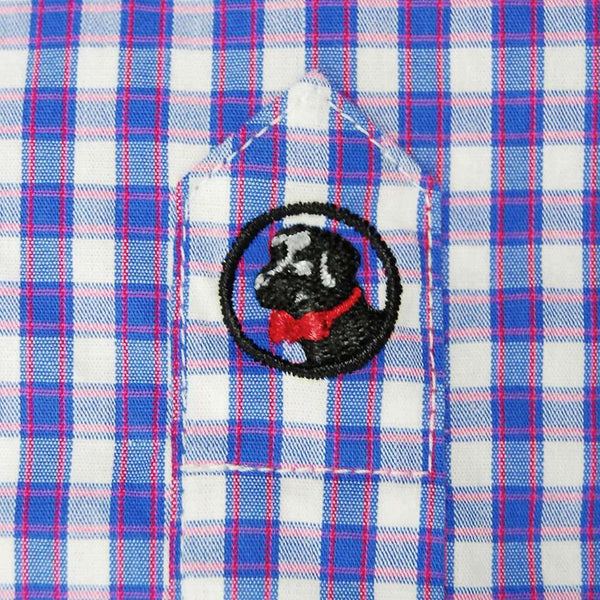 Goal Line Shirt in River Gingham by Southern Proper - FINAL SALE