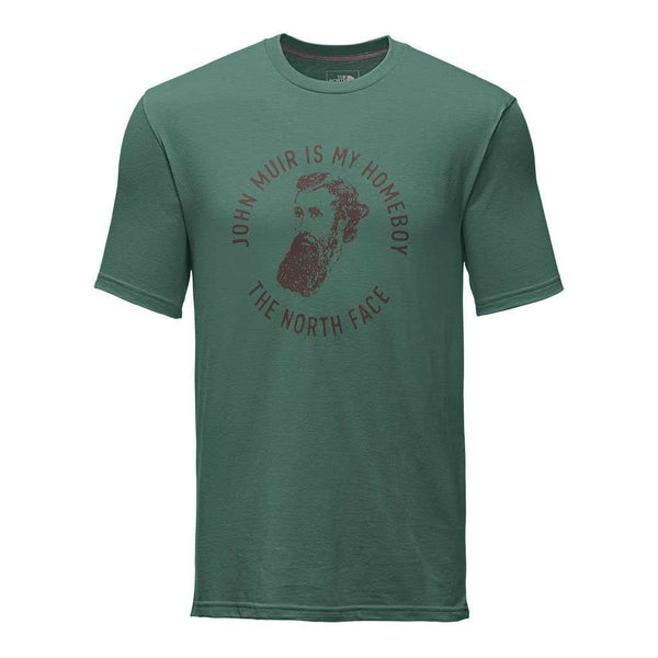 Men's Short Sleeve Bottle Source Novelty Tee in Smoke Pine by The North Face