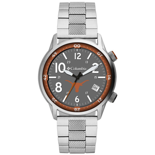 Texas Longhorns Outbacker 3-Hand Date Stainless Steel Watch by Columbia Sportswear