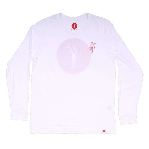 Coaster Long Sleeve Tee in White by Toes on the Nose - FINAL SALE
