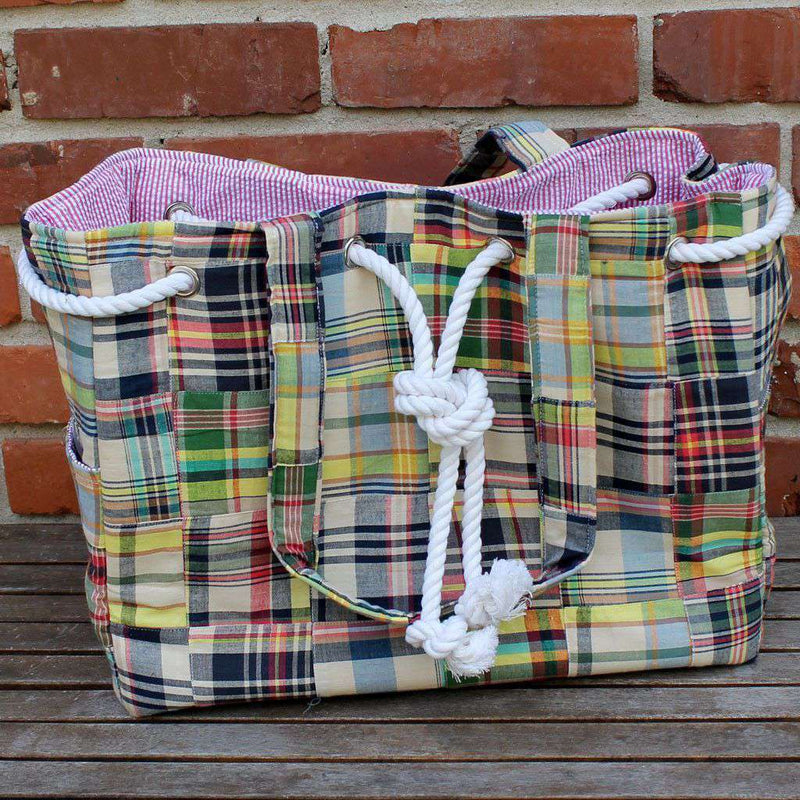 Tote Bags - Alexa Tote Bag In Great Island By Just Madras