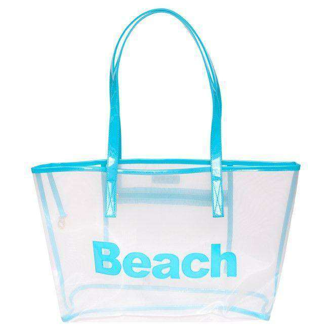 Tote Bags - Amy Mesh Tote With Turquoise Beach By Lolo - FINAL SALE