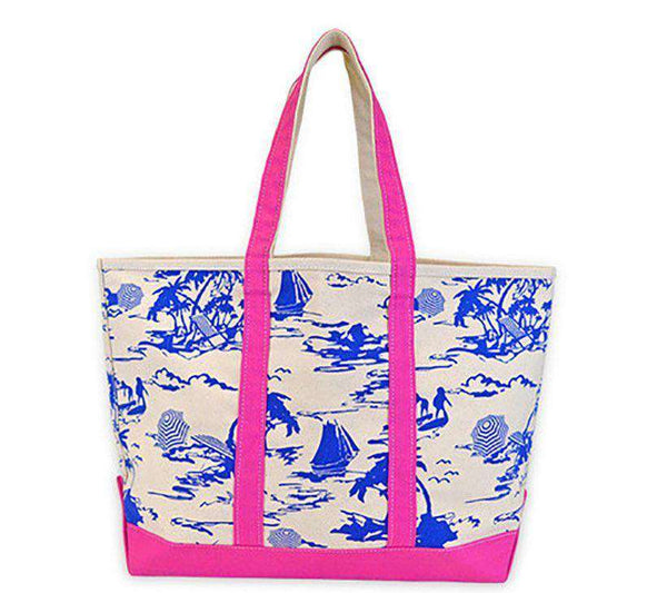 Island Time Canvas Tote by All For Color