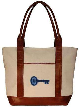 Tote Bags - Kappa Kappa Gamma Tote Bag In Natural Canvas By Smathers & Branson