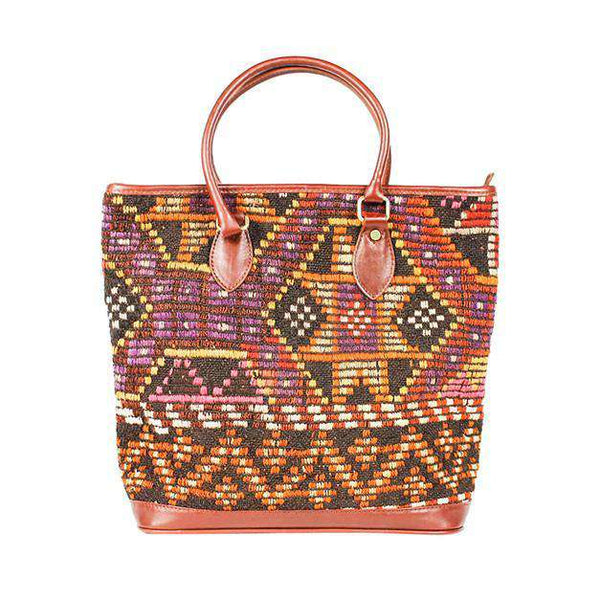 Tote Bags - Kilim Tote Bag In Galaxy Black By Res Ipsa