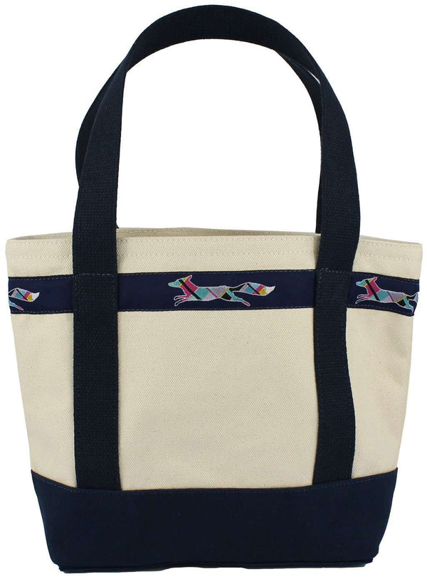 Large Longshanks Tote Bag in Natural Canvas by Country Club Prep