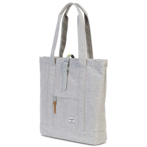 Market Tote in Light Grey Crosshatch by Herschel Supply Co. - FINAL SALE
