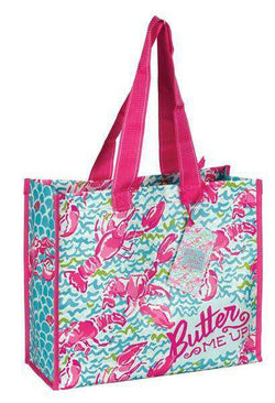 Tote Bags - Market Tote In Lobstah Roll By Lilly Pulitzer