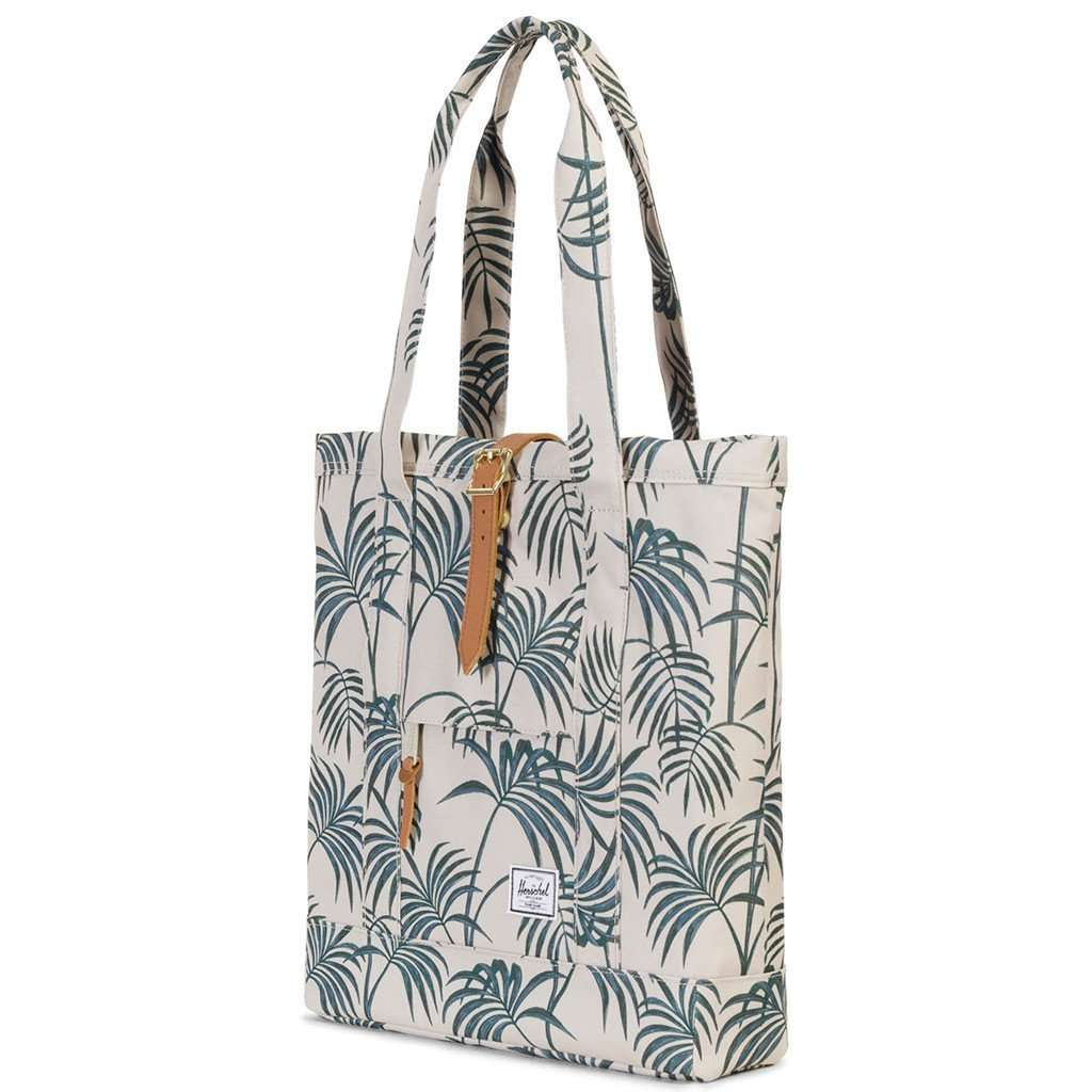 a524987e3b56 Herschel Supply Co. Market Tote in Pelican Palm – Country Club Prep