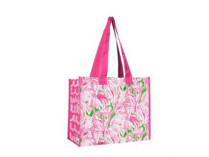 Tote Bags - Market Tote In Pink Colony By Lilly Pulitzer