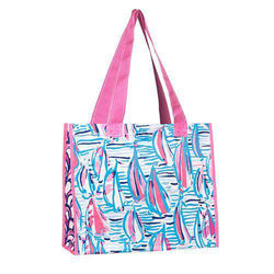 Tote Bags - Market Tote In Red Right Return By Lilly Pulitzer