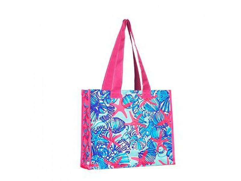 Tote Bags - Market Tote In She She Shells By Lilly Pulitzer