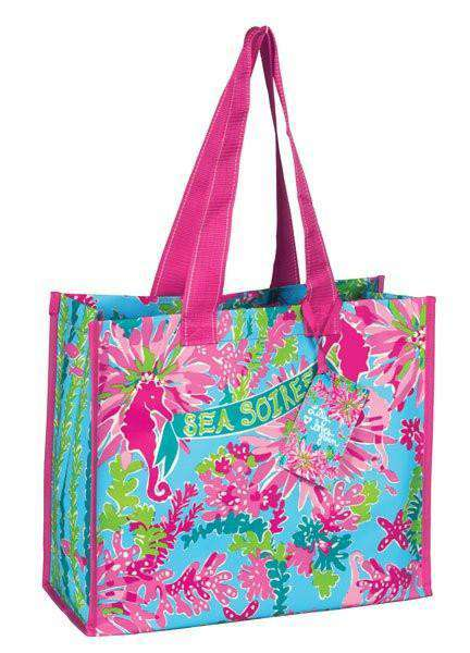 Tote Bags - Market Tote In Trippin' And Sippin' By Lilly Pulitzer