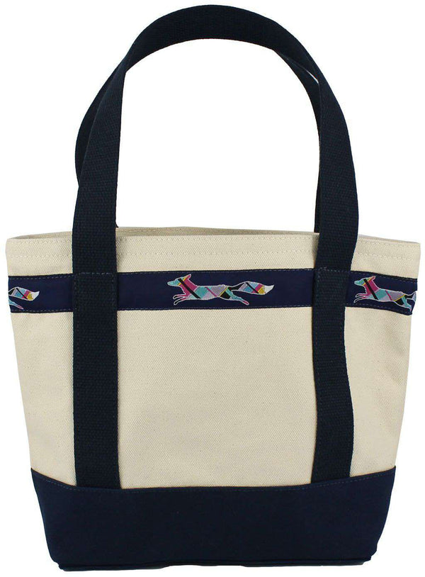 Medium Longshanks Tote Bag in Natural Canvas by Country Club Prep